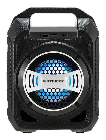 Caixa De Som Amplificadora Multilaser Sp313, Bluetooth, Entradas Usb/aux/cartão De Memória E 30w Rms