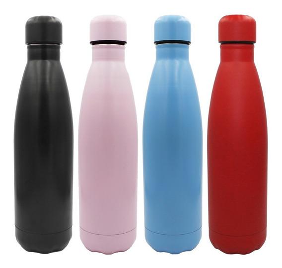 Termo Botella De Agua Ecologia Acero Inoxidable 500 Ml Color