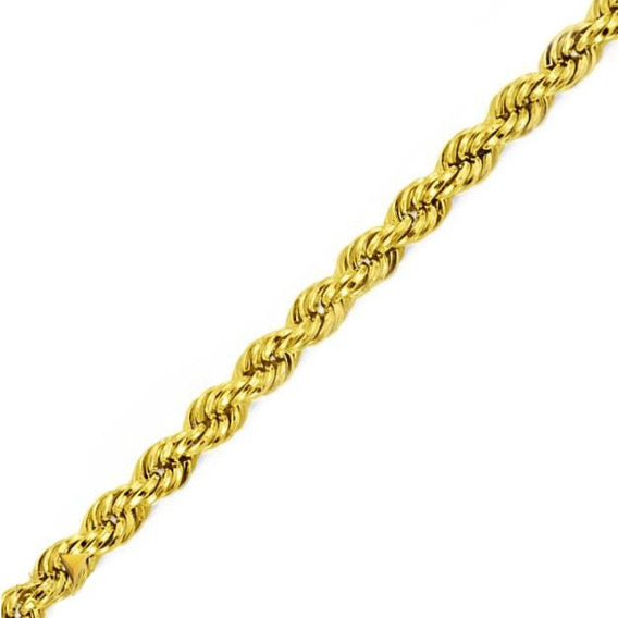 Corrente Ouro 18k Corda Laser 40cm 4,0g