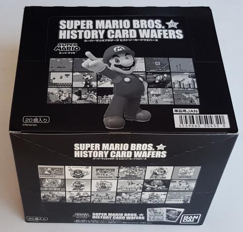 Super Mario Brothers History Bandai Wafer Caja Con 20 Sobres