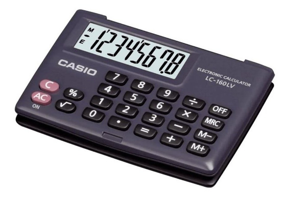 Calculadora De Bolso Casio 8 Dígitos Lc-160lv Preta Pequena
