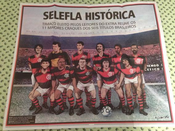 Poster Flamengo Selefla E Times Campeoes Brasileiros Extra