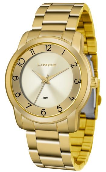 Relogio Lince Feminino Lrg4590l C2kx Dourado