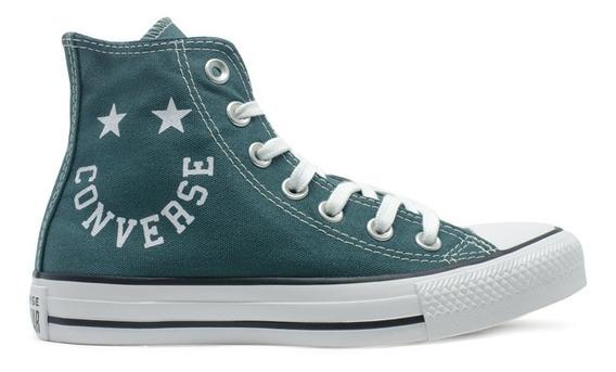 Tênis Converse Chuck Taylor All Star Hi Smile Verde Original