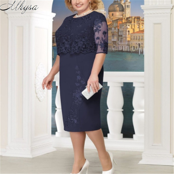 Vestido Plus Size Evangelica E Executiva Elegante