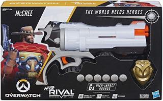 Nerf Rival Overwatch Mccree Lanzador + Placa Nuevo Original