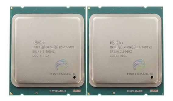 2 Processadores Intel Xeon E5-2680v2 2.8ghz Ten Core 10/20