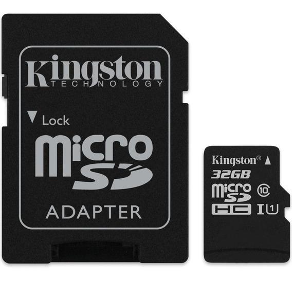 Cartão De Memória Kingston Canvas Select Microsd 32gb -preto