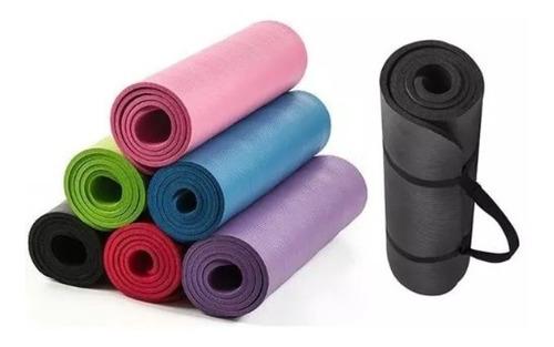 Yoga Mat Colchoneta + Cinta P/ Transport Nbr 183x61x10mm Pro
