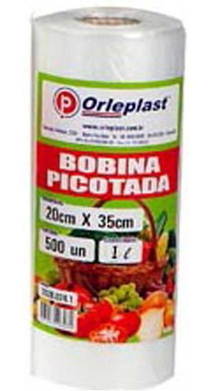 Kit Com 6 Bobinas 500 Sacos 20x35 2l Alimentos Freezer