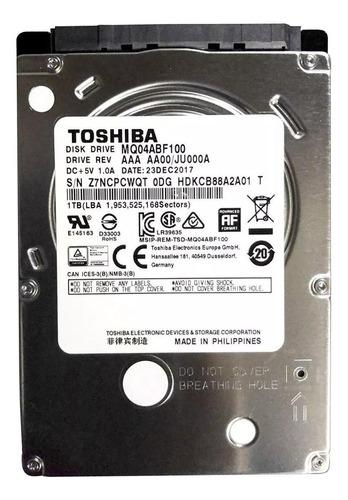 Imagen 1 de 2 de Disco duro interno Toshiba MQ04ABF Series MQ04ABF100 1TB