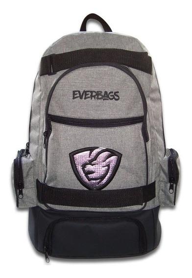 Mochila Térmica Fitness Marmita Notebook Preta Everbags