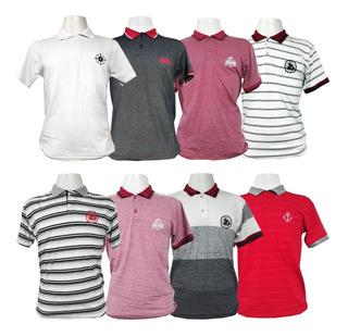 Kit 5 Camisas Polo Masculina Blusa Camiseta De Luxo Atacado