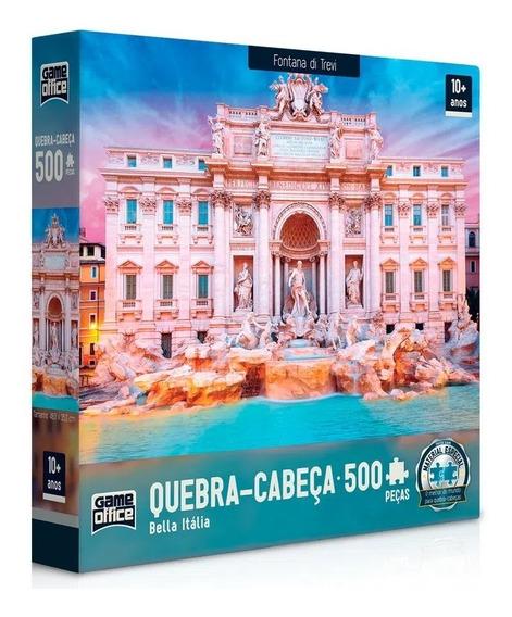 Quebra Cabeça Puzzle 500 Peças Bella Italia Fontana Di Trevi