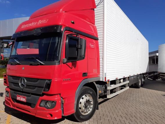 Mb.2426 Atego Truck - Ano 2015 - Bau 87m³ -r$.215.000,00