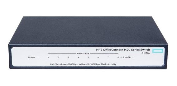Switch 8 Portas 10/100/1000 1420 8g Jh329a Hpe Gigabit