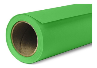 Fondo Infinito Fotografía Papel Verde Chroma 2,7x10m Cuotas