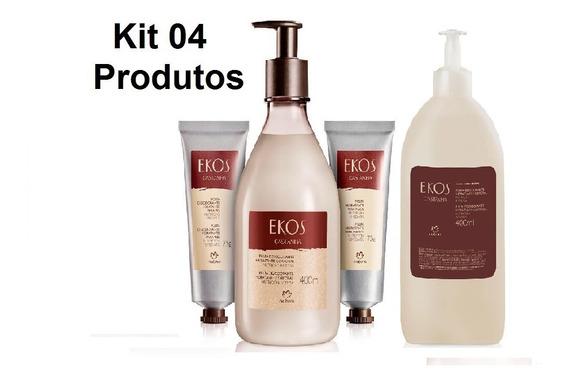 Kit Natura Hidratantes Ekos Castanha Com 04 Produtos