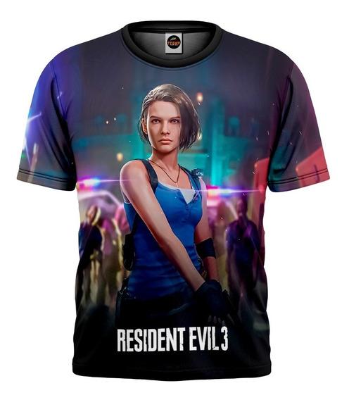 Camiseta Resident Evil 3 Remake Camisa Game Infantil Mod 006