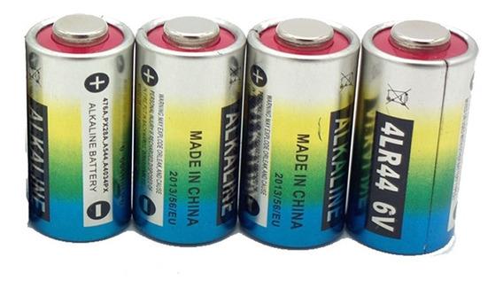 4 Bateria Pilha 4lr44 6v Coleira Antilatido 476a A544x Px28a