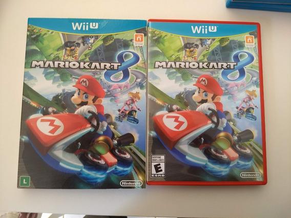 Mario Kart 8 Wiiu Usado Com Luva Ótimo Estado