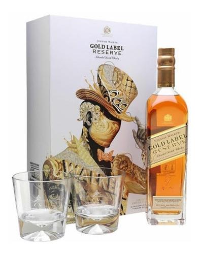 Johnnie Walker Gold Reserve Whisky 750ml - Estuche + 2 Vasos