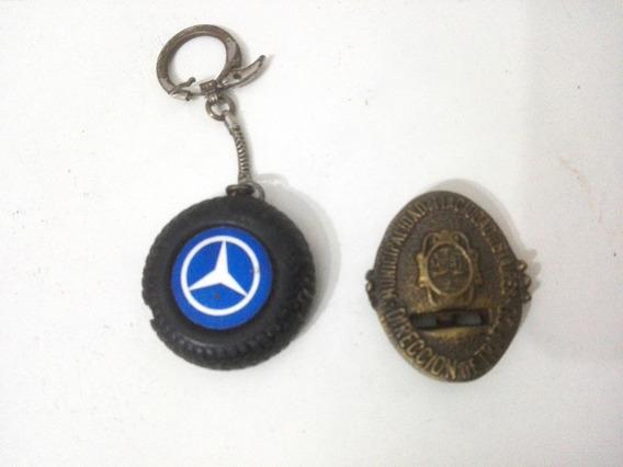 Juego De Llavero Mercedes Benz Y Escudo