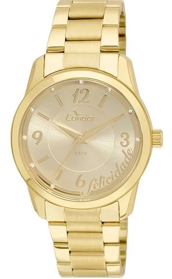 Relógio Condor Feminino Dourado Shake Fashion Co2035kuo/4d