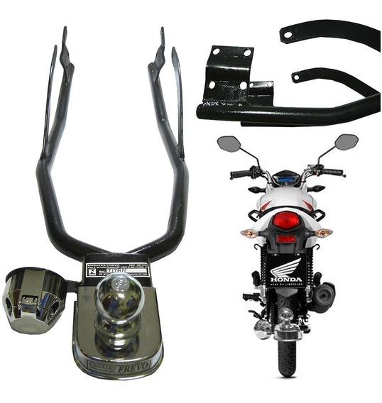 Engate Reboque Honda Cg Fan Titan 150 160 Completo Só Montar