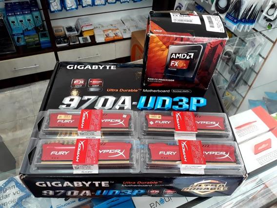 Kit Gigabyte Ga-970a-ds3p Am3 + 16gb Hyperx Fury + Fx 8320