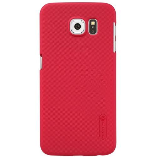 Imagen 1 de 6 de Carcasa Protector Nillkin Frosted Shield Samsung S6, Rojo