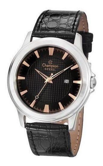 Relógio Champion Masculino Social Aço E Calendário Ca21188t