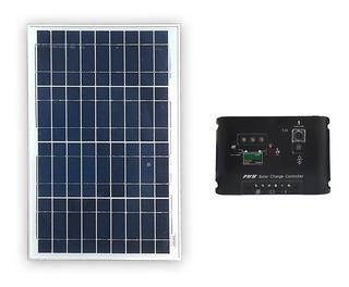 Panel Solar 40w + Regulador De Carga 10 Amp