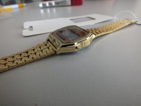 Relógio Unissex Dourado Clássico Digital