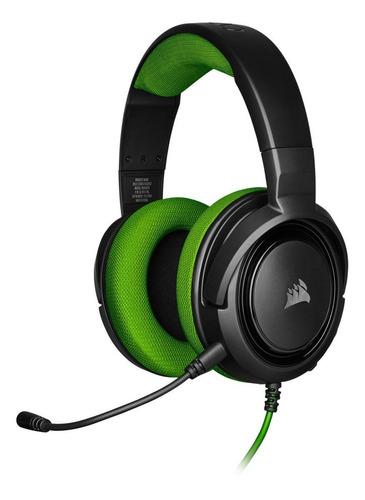 Imagen 1 de 4 de Audífonos gamer Corsair HS35 Stereo green