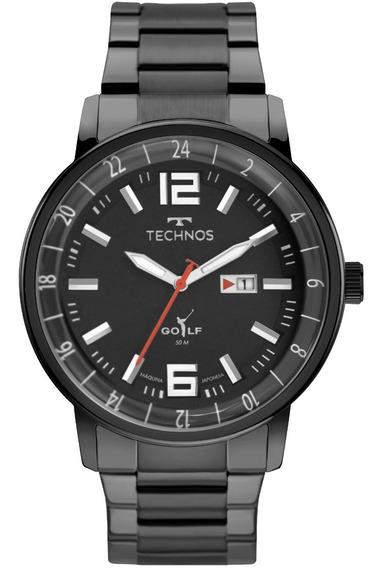 Relógio Technos Masculino Golf Preto 2115mwc/1p