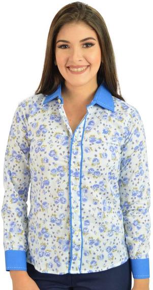 Camisa Social Feminina Detalhe Lilas E - Não Perca