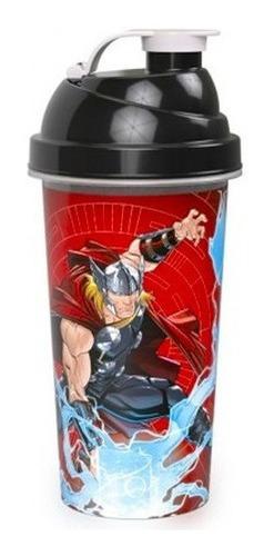 Imagem 1 de 1 de Copo Shakeira De Plástico 580 Ml Tampa Rosca Avengers Thor