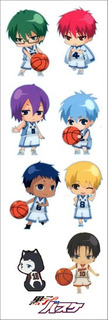 Plancha De Stickers De Anime De Kuroko No Basket Anime