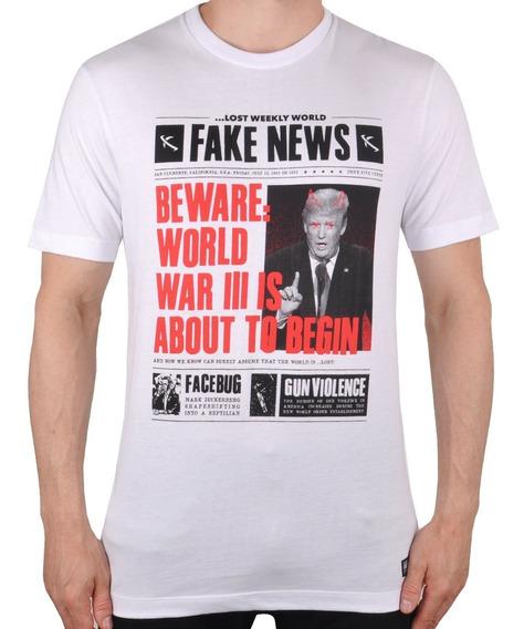Camiseta Lost Fake News Trump - Cut Wave