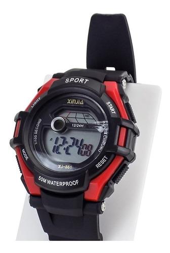 Relógio Unisex Prova D'água Borracha Original + Nota Fisc
