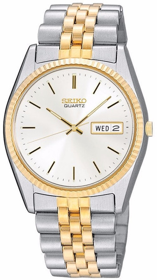 Reloj Seiko Blanco Dorado Acero Inoxidable Sgf204