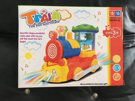 Tren De Juguete Con Luces Y Sonido -10v-