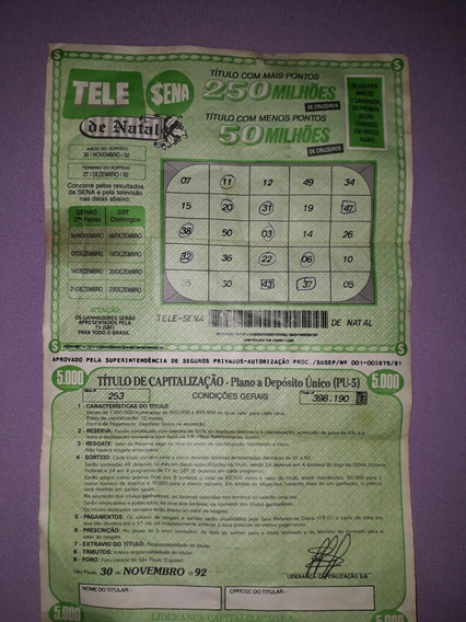 Tele Sena Antiga 1992