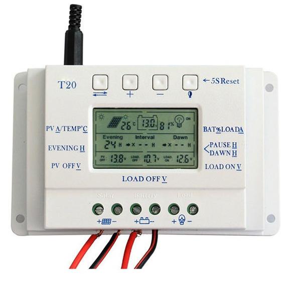 Controlador De Carga Solar 20a Mppt 12v 24v Envio Grátis