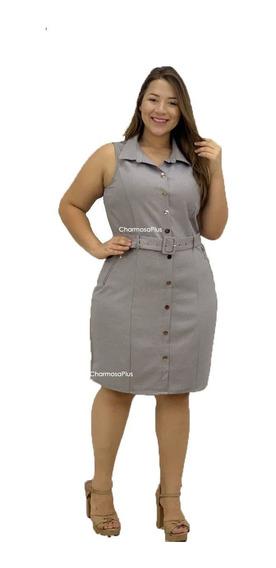 Vestido Com Cinto Curto Moderno Roupas Femininas Plus Size