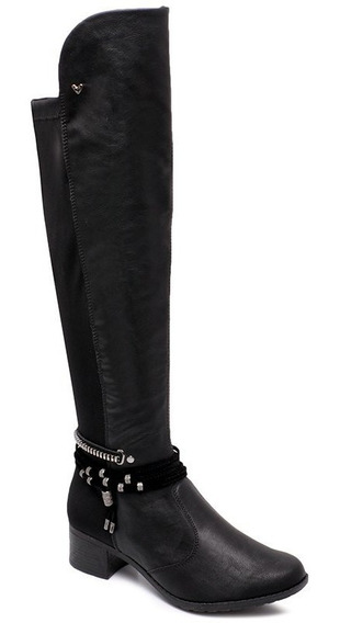 Bota Over The Knee Mississipi X9312 Preto