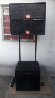Line Array X 4jbl + 2 Graves + 2 Potencias Apxii_ 1200