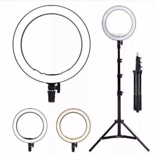 Ring Light 35cm/14 Polegadas + Tripé 2m + Sup P/ Celular