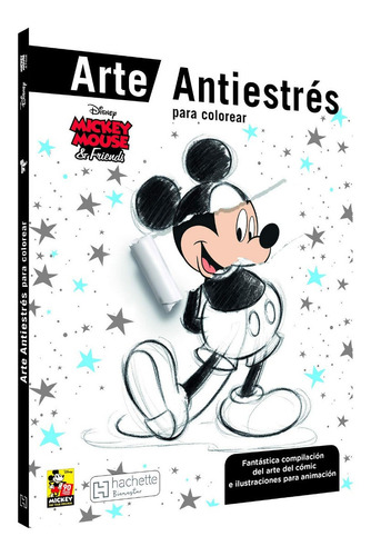 Imagen 1 de 4 de Disney Colorea Mickey Mouse Libro Arte Antiestres Mandalas